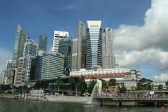 Merlion e Finantial District