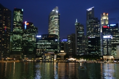 Marina Bay e Finantial District by night