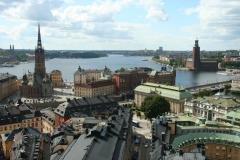Vista da Catedral - Stadshus e Lago Mälaren